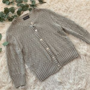 Wooden Ships Gray Knit Button Up Cardigan